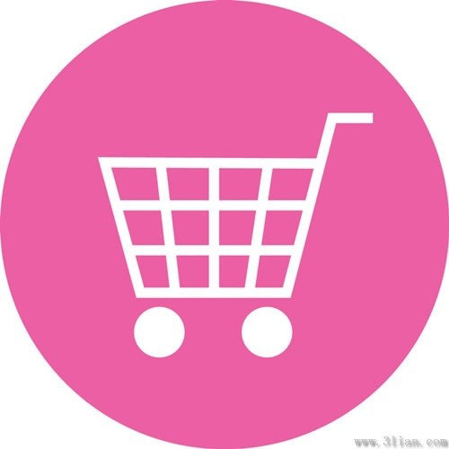 Pink Shopping Cart Icon Vector Free Vector In Adobe
