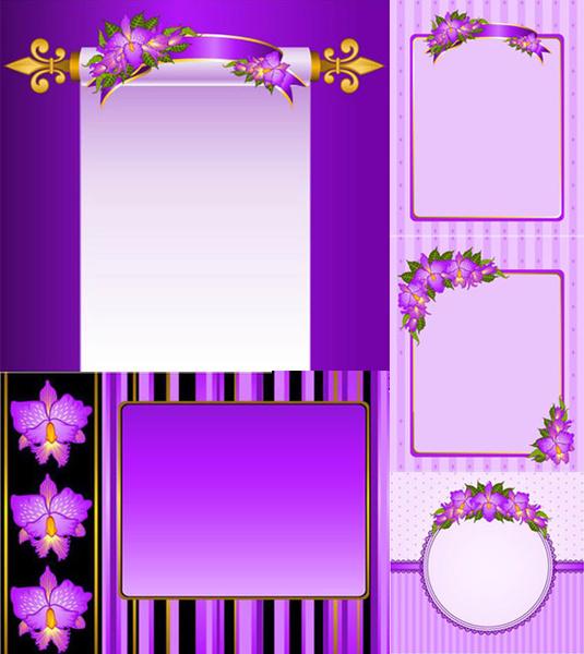 Purple Flower Vectors Free Vector Download 11396 Free