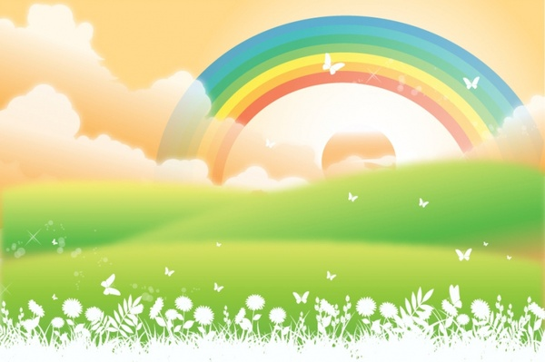 Rainbow Free Vector Download 1104 Free Vector For