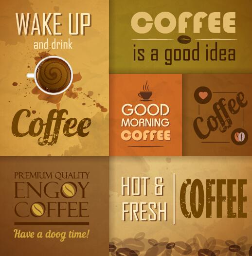 Retro Design Coffee Menu Cover Vector Free Vector In