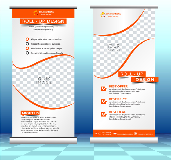 Roll Up Banner Free Vector Download 11194 Free Vector