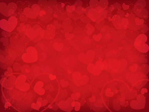 Romantic Heart Valentine Background Free Vector Free