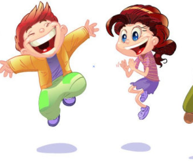 Set Of Cute Cartoon Little Child Vector Free Vector In
