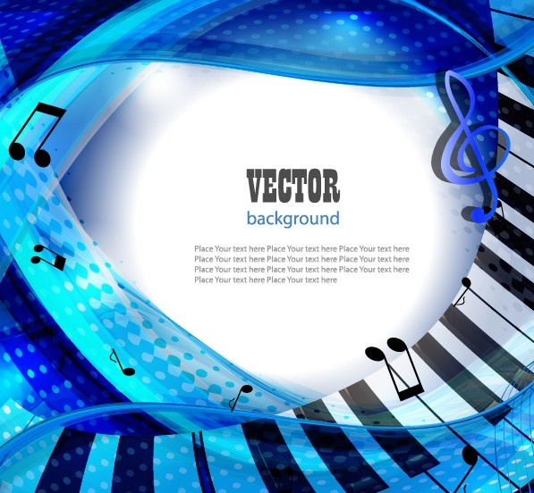 Set Of Piano Backgrounds Vector Graphics Free Vector In