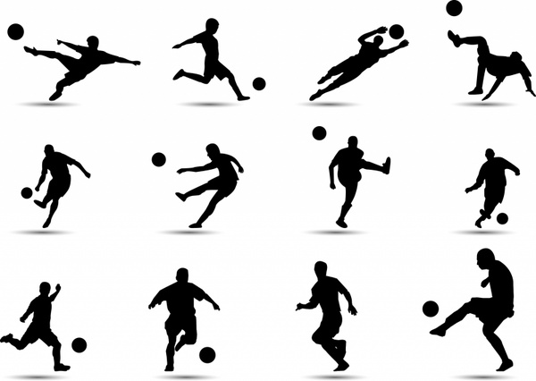 Soccer Silhouette Free Vector In Adobe Illustrator Ai