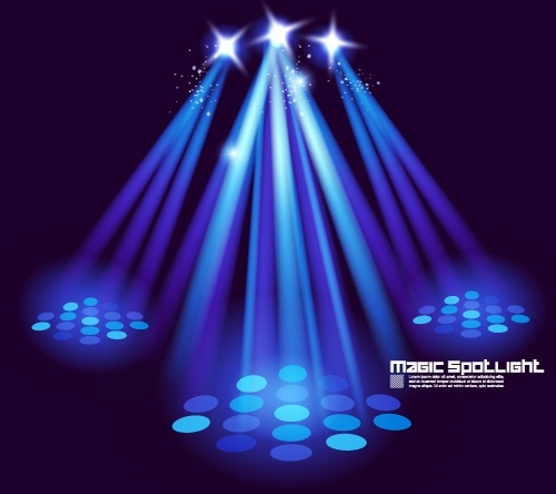 stage lighting effects 03 vector free