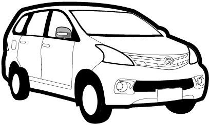 toyota avanza daihatsu xenia suv family car  vector