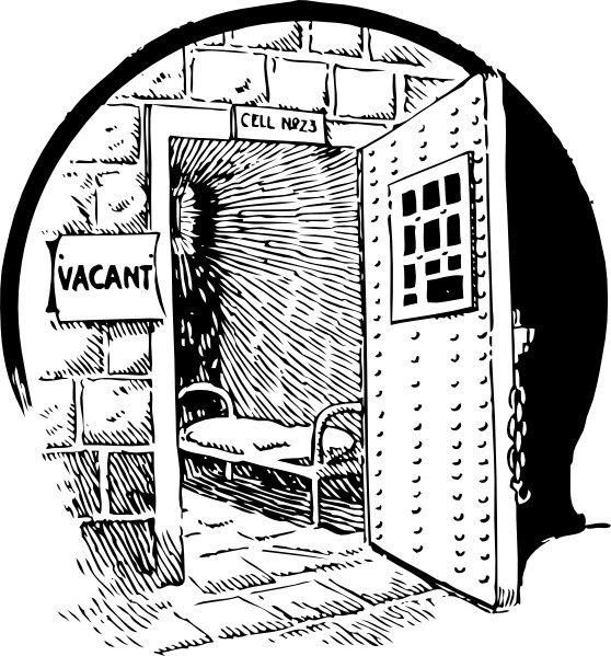Vacant Prison Cell clip art