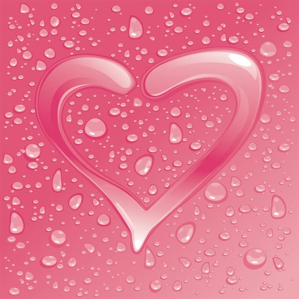 valentine8217s day water drops hearts vector