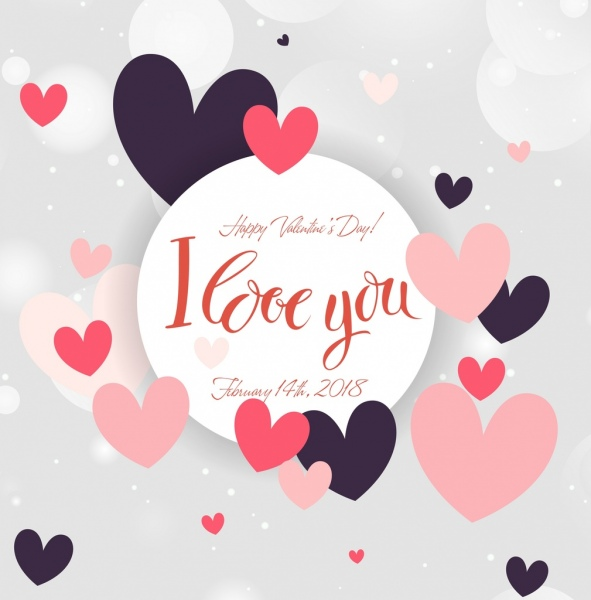 Valentine Card Template Floating Hearts Decoration Free Vector In Adobe Illustrator Ai Ai Format Encapsulated Postscript Eps Eps Format Format For Free Download 3 96mb