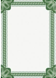 Vector Classic Certificate Border For Diploma Or
