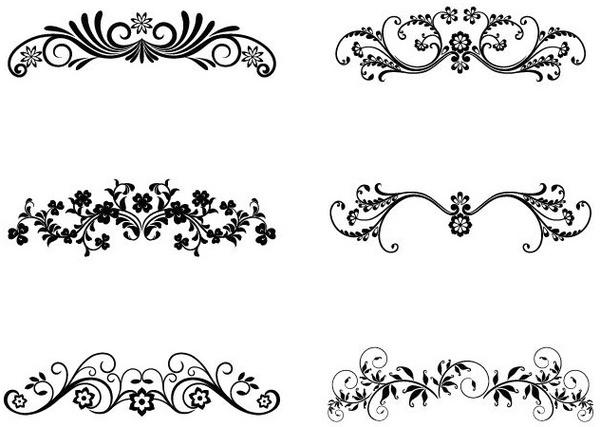 Vector Floral Ornamental Design Elements Free Vector In