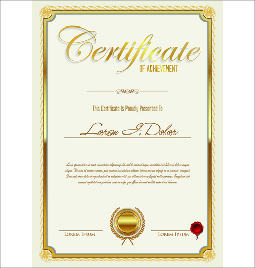 Vector Template Certificates Design Graphics Free Vector