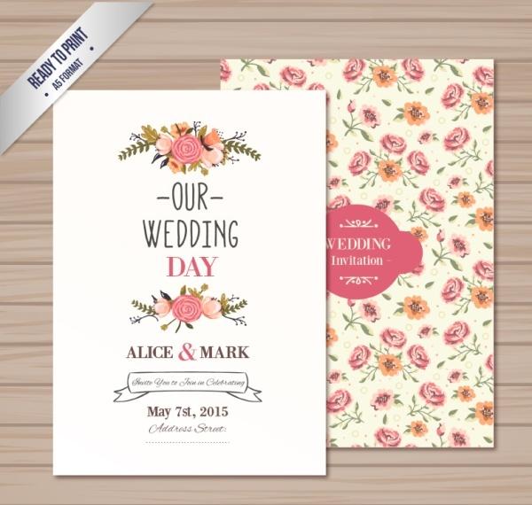 Wedding Card Vector Free Vector Download 13412 Free