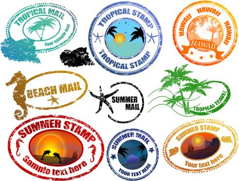 Vintage Postcards Stamps Free Vector Download 7580 Free