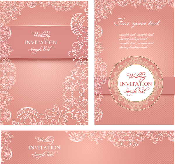 Wedding Invitation Card Templates Free Vector 34 59mb