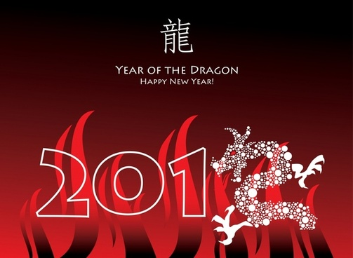 Happy new year greeting cards free vector download  18 315 Free     2012 year of the dragon happy new year greeting card vector