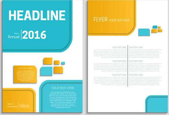 Annual Report Design Template Free Vector Download 19 829