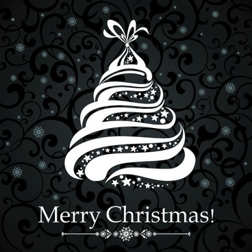 White Christmas Backgrounds Free Vector
