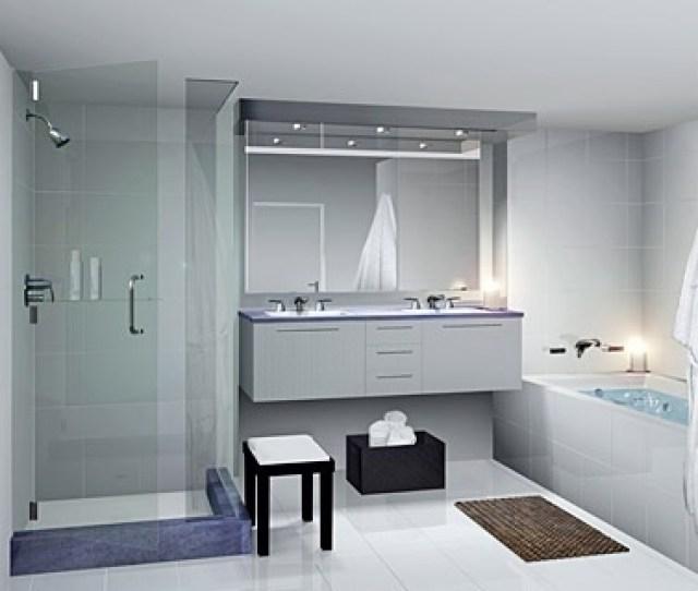 Bright And Minimalist Bathroom Picture