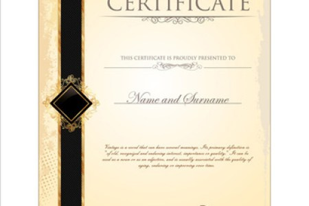 Certificate border template free vector download  18 826 Free vector     cover of certificate design template vector