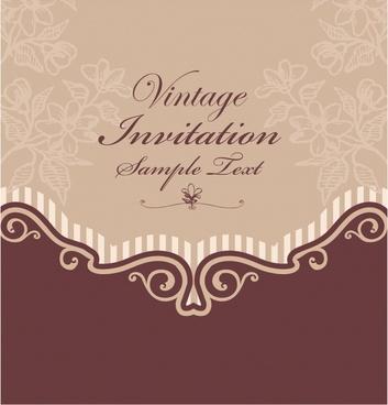 engagement invitation card free vector