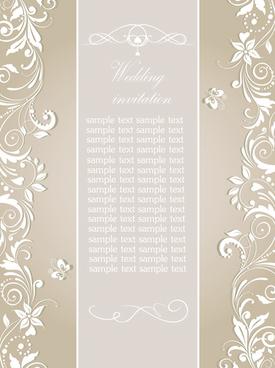 Fl Wedding Invitation Card Elegant Design