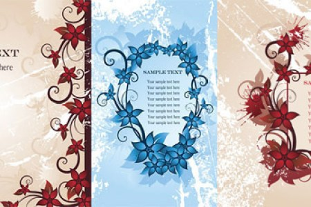 Flower border designs free vector download  15 141 Free vector  for     flower border fashion vector