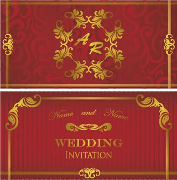 Luxurious Fl Wedding Invitations Vector Design
