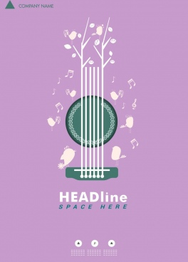 free music poster template free vector