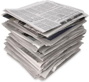 alte Zeitungen für die Zellulosedämmung