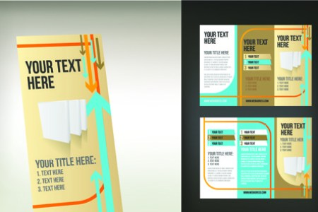 Tri fold brochure template free vector download  15 054 Free vector     set of tri fold business brochure cover vector