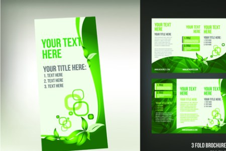 Tri fold brochure template free vector download  15 025 Free vector     set of tri fold business brochure cover vector