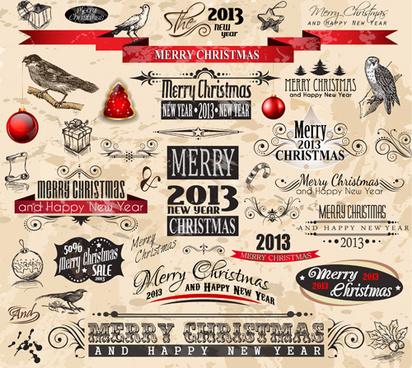 Christmas Ornament Elements Vector