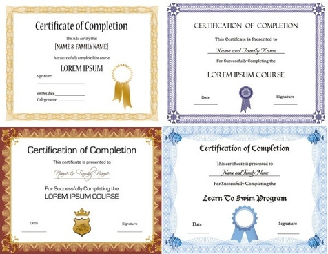 Certificate Template Free Vector Download 20 053 Free