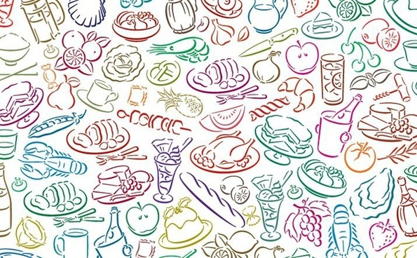 Food Pattern Free Vector Download 24638 Free Vector For