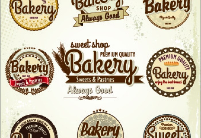 Free Vector Bakery Label Free Vector Download 8523 Free Vector