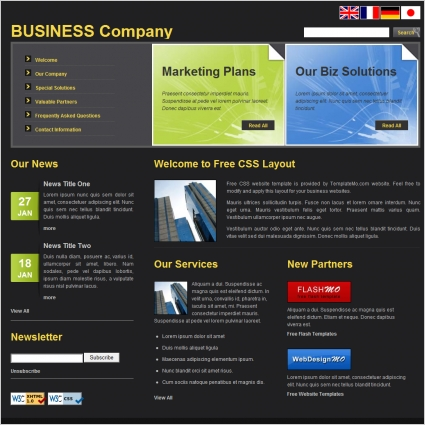 Printing Company Website Template  printing company web