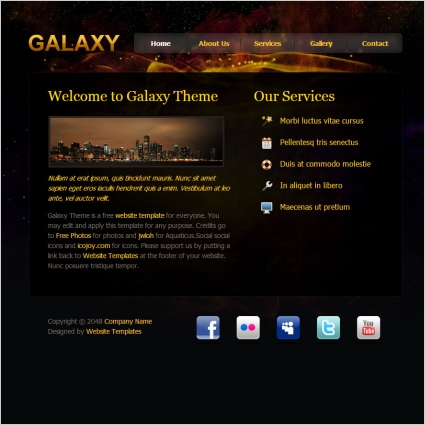 Galaxy Design Free Website Templates In Css Html Js