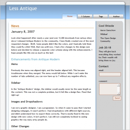 Less Antique Template Free Website Templates In Css Html