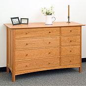 new england wood chatham 8 drawer dressers
