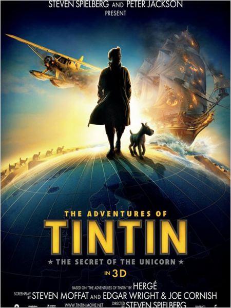 """Affiche du film """"Les aventures de Tintin : le secret de la Licorne"""""""