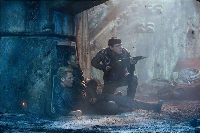 Star Trek Into Darkness : Photo Chris Pine, Zachary Quinto, Zoe Saldana