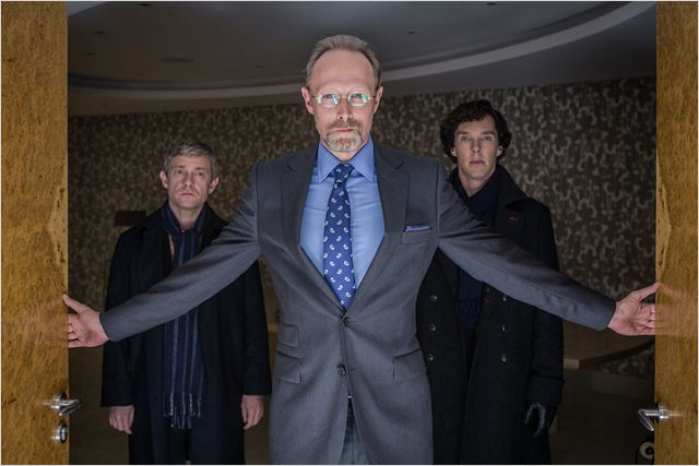 Photo Benedict Cumberbatch, Lars Mikkelsen, Martin Freeman