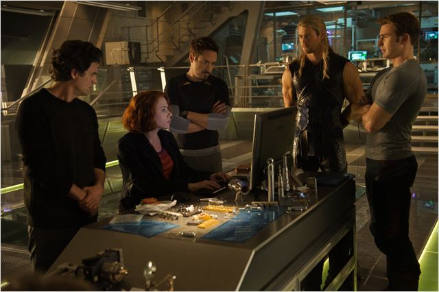 Avengers : L'ère d'Ultron : Photo Chris Evans, Chris Hemsworth, Mark Ruffalo, Robert Downey Jr., Scarlett Johansson