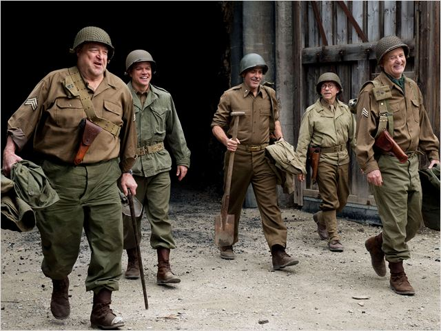 Monuments Men : Photo Bill Murray, Bob Balaban, George Clooney, John Goodman, Matt Damon