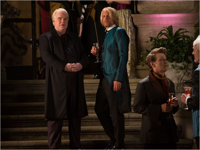 Hunger Games - L'embrasement : Photo Philip Seymour Hoffman, Woody Harrelson