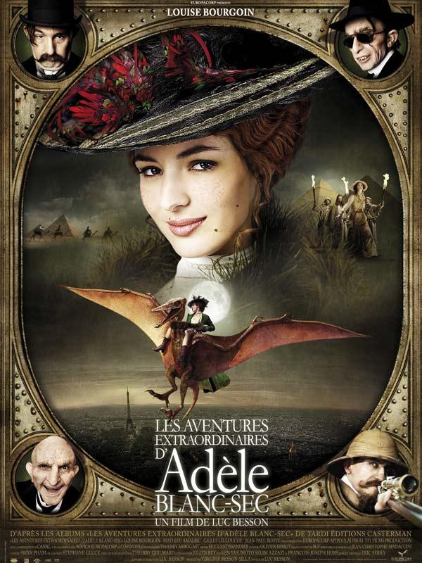 """Affiche du film """"Adèle Blanc-Sec"""" - source : Allo Ciné"""