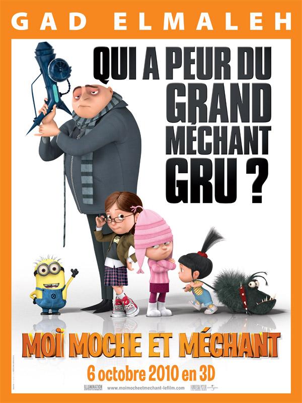 """Affiche du film """"Moi, moche et méchant"""" - Source : Allo Ciné"""