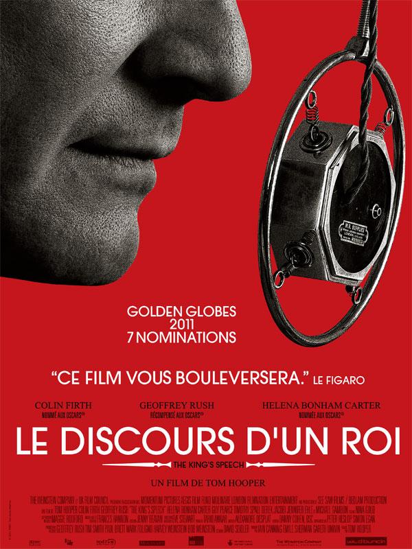 """Affiche du film de Tom Hooper """"Le discours d'un roi"""" - source : Allo Ciné"""